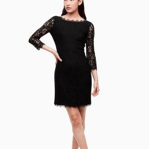Wilfred Aritzia ash grey all lace fitted dress